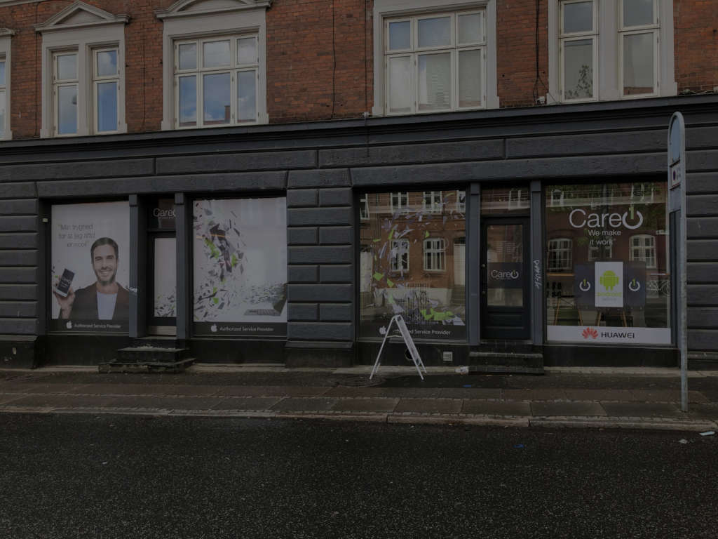 Care1 butik i Århus i Danmark